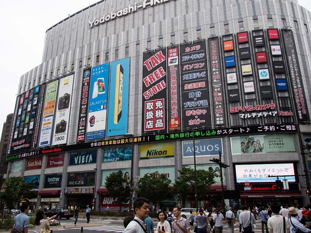 Yodobashi Akiba - ein gigantischer Elektronikmarkt
