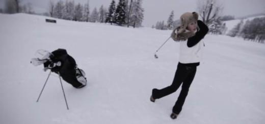 Golfen im Schnee