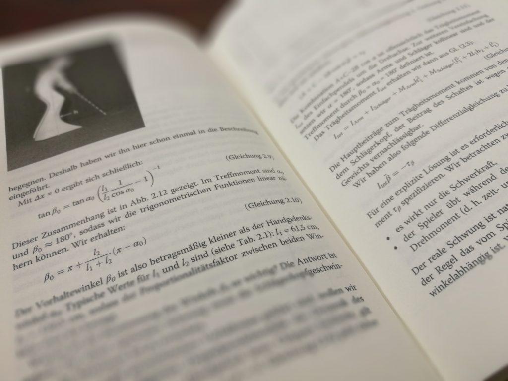 """Ein Blick in das Buch """"Physik des Golfspiels""""....habe ich euch zu viel versprochen? ;)"""