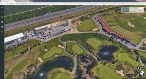 Kölner Golfclub, Clubhaus noch im Bau. Screenshot © Google GeoBasis-DE/BKG (c 2009)