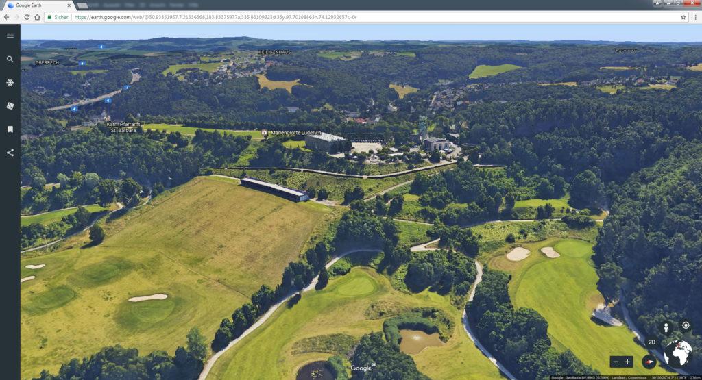 Golfclub am Lüderich. Screenshot © Google GeoBasis-DE/BKG (c 2009) Landsat / Copernicus