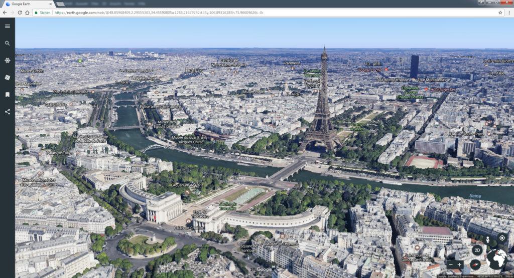 Unschwer zu erkennen, welche Stadt das ist... Screenshot © Google Landsat / Copernicus