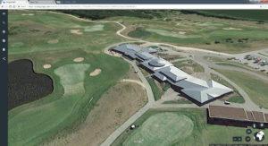 WinstonGolf leider noch ohne gutes 3D. Screenshot © Google GeoBasis-DE/BKG (c 2009) Landsat / Copernicus